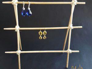 Эко-подставка под серьги из палочек для суши. Ярмарка Мастеров - ручная работа, handmade.