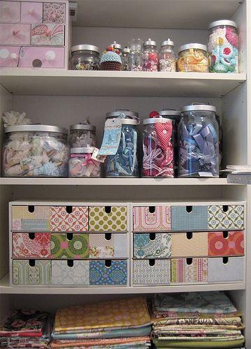 Cute craft storage ideas.