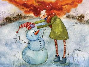 Акварельные зимние сказки Виктории Кирдий. Ярмарка Мастеров - ручная работа, handmade.