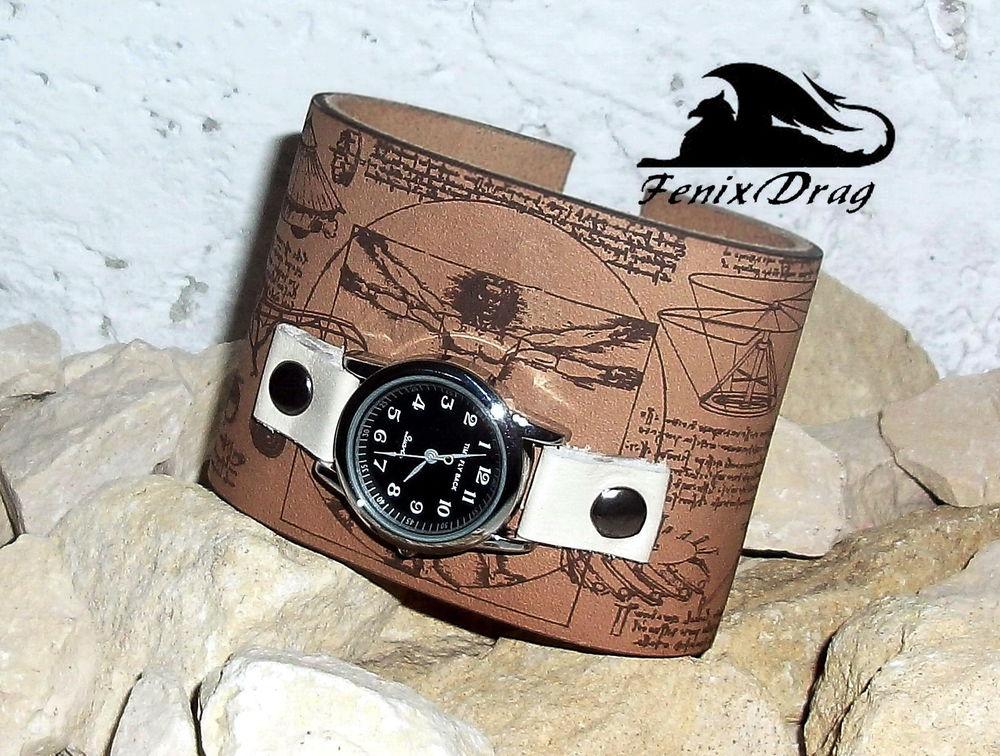 браслеты из кожи, часы стимпанк, украшения для мужчин